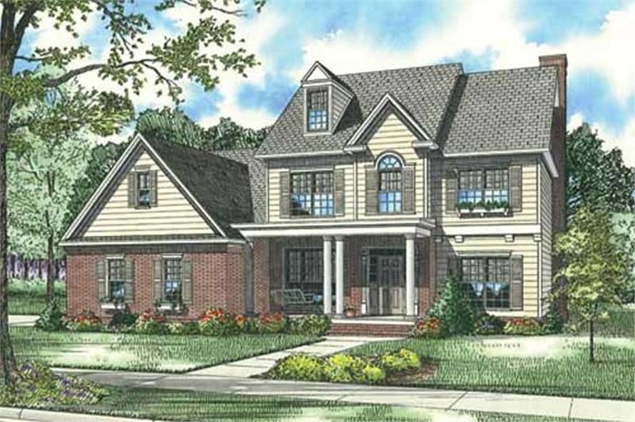 4-Bedroom, 2952 Sq Ft Home Plan - 153-1858 - Main Exterior