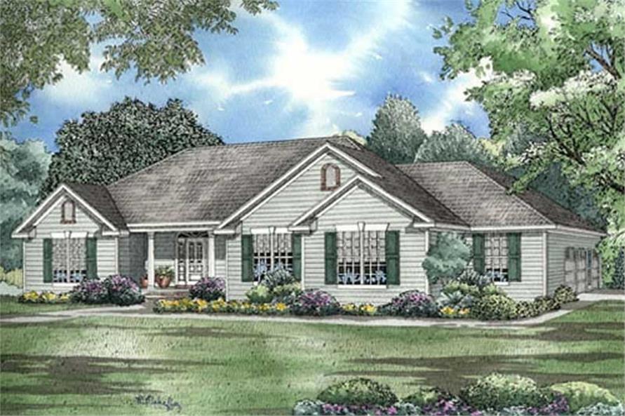 Home Plan Rendering of this 3-Bedroom,2096 Sq Ft Plan -153-1860