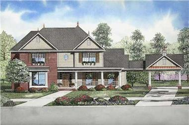 4-Bedroom, 2710 Sq Ft Home Plan - 153-1861 - Main Exterior