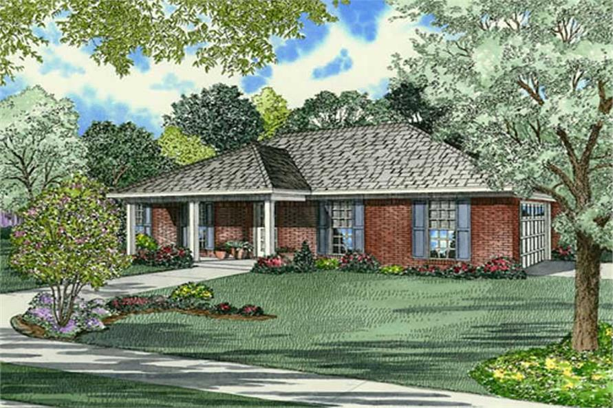 Main image for house plan # 9851