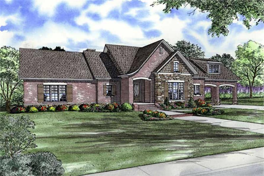 Main image for house plan # 9847