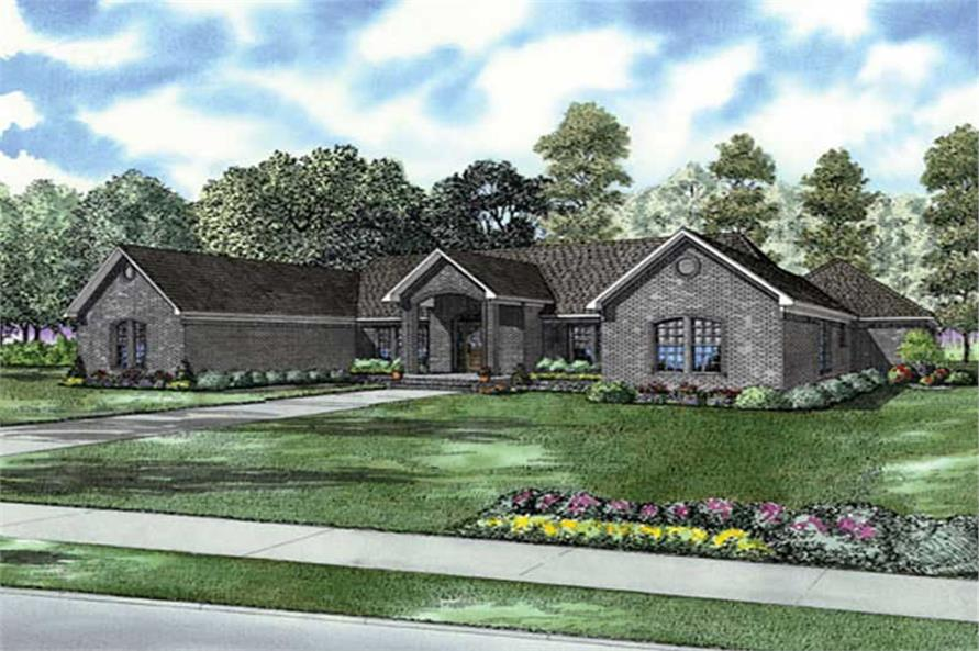 3-Bedroom, 2864 Sq Ft Home Plan - 153-1866 - Main Exterior
