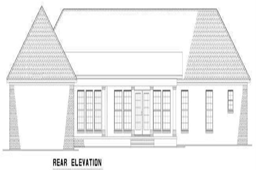 Home Plan Rear Elevation of this 3-Bedroom,2864 Sq Ft Plan -153-1866