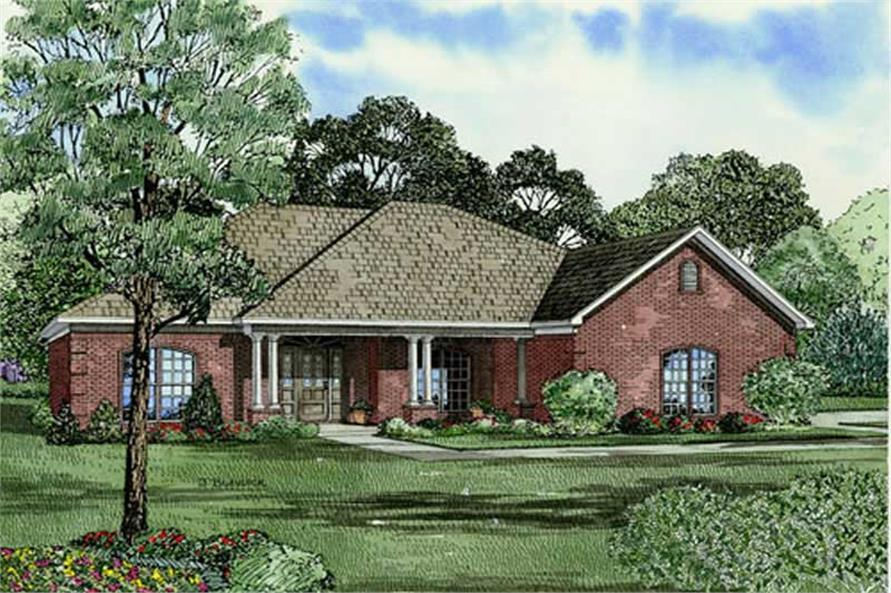 3-Bedroom, 1969 Sq Ft Home Plan - 153-1867 - Main Exterior
