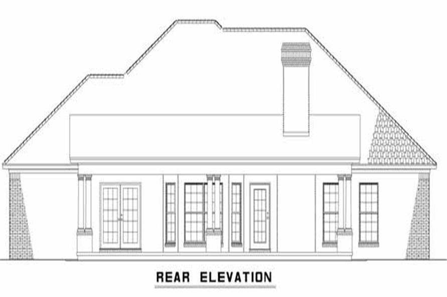 Home Plan Rear Elevation of this 3-Bedroom,1969 Sq Ft Plan -153-1867