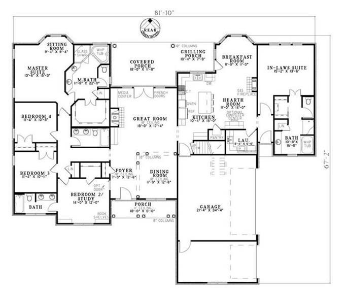 رئيس ضغط خلف House Plans With In Law Suite Findlocal Drivewayrepair Com