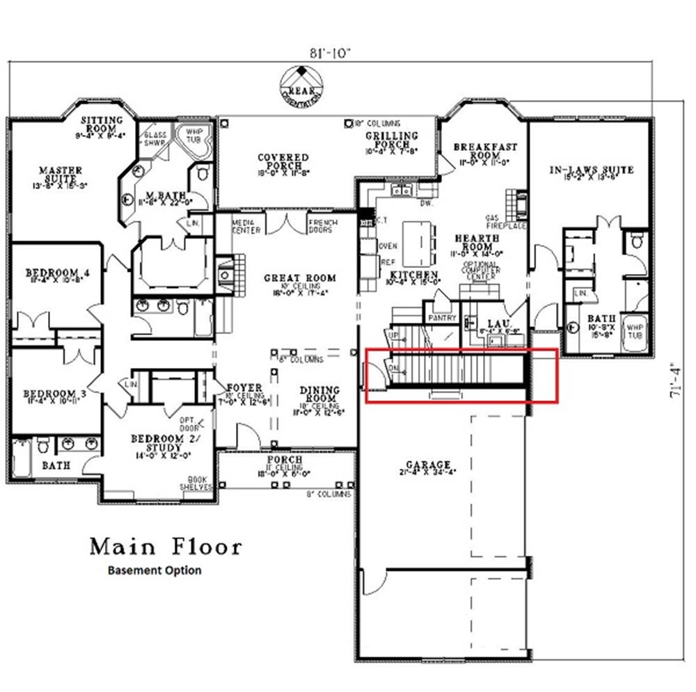 153-1868: Floor Plan Main Level