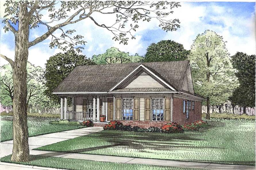 3-Bedroom, 1263 Sq Ft Small House Plans - 153-1870 - Main Exterior