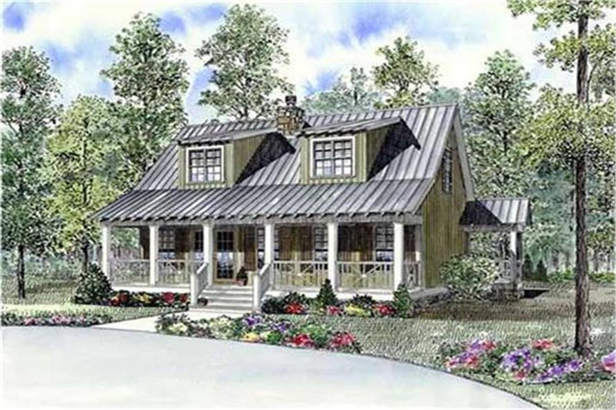 Home Plan Rendering of this 3-Bedroom,1451 Sq Ft Plan -1451