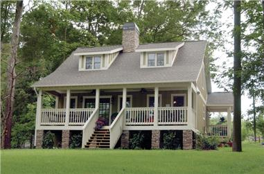 3-Bedroom, 1451 Sq Ft Country Home Plan - 153-1871 - Main Exterior