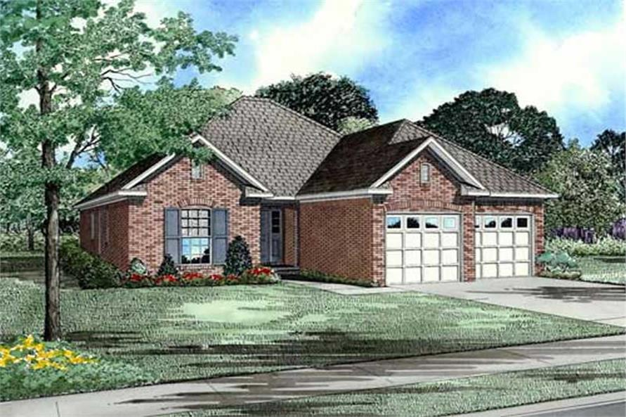 3-Bedroom, 1379 Sq Ft Small House Plans - 153-1873 - Main Exterior