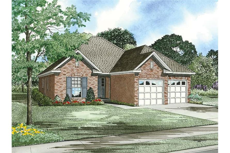 Front View of this 3-Bedroom,1379 Sq Ft Plan -1379