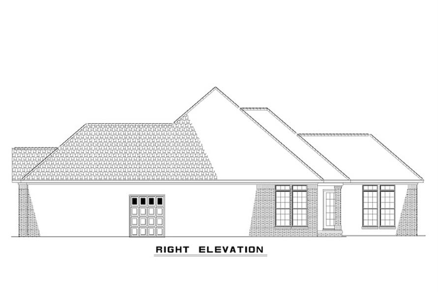 Home Plan Right Elevation of this 3-Bedroom,1379 Sq Ft Plan -153-1873