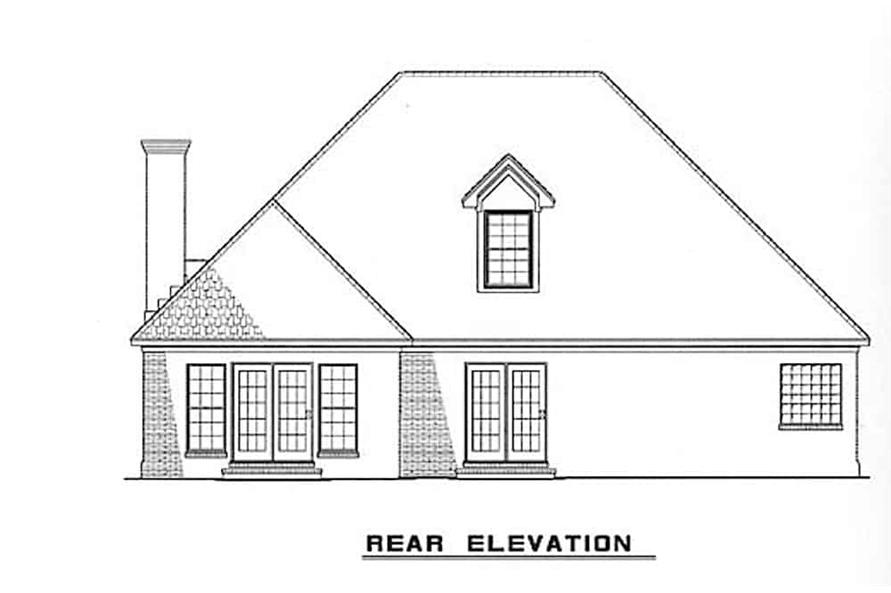 Home Plan Rear Elevation of this 3-Bedroom,1797 Sq Ft Plan -153-1875