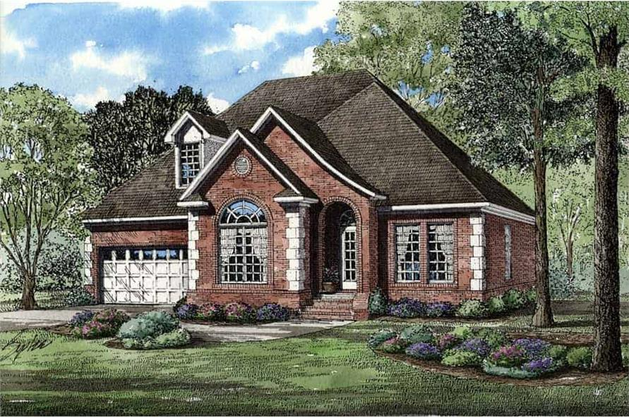 3-Bedroom, 1797 Sq Ft Home Plan - 153-1875 - Main Exterior