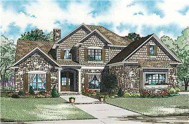 4-Bedroom, 3425 Sq Ft Colonial Home - Plan #153-1876 - Main Exterior