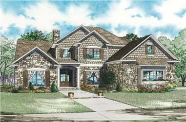3-Bedroom, 3425 Sq Ft Craftsman House Plan - 153-1876 - Front Exterior
