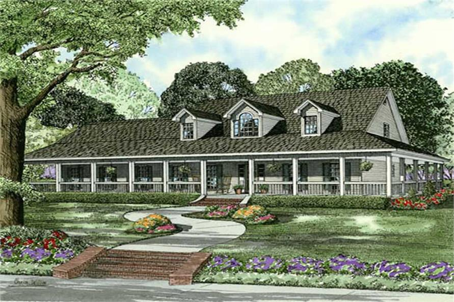 3-Bedroom, 2851 Sq Ft Home Plan - 153-1877 - Main Exterior
