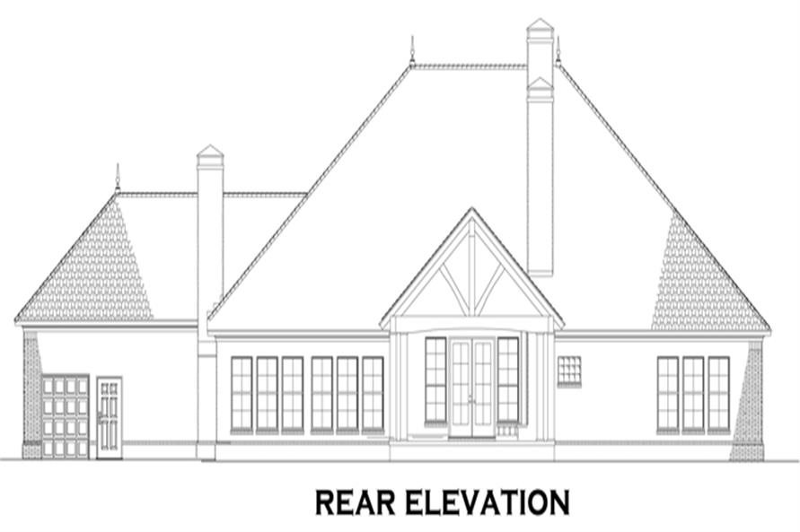 Home Plan Rear Elevation of this 3-Bedroom,2618 Sq Ft Plan -153-1878