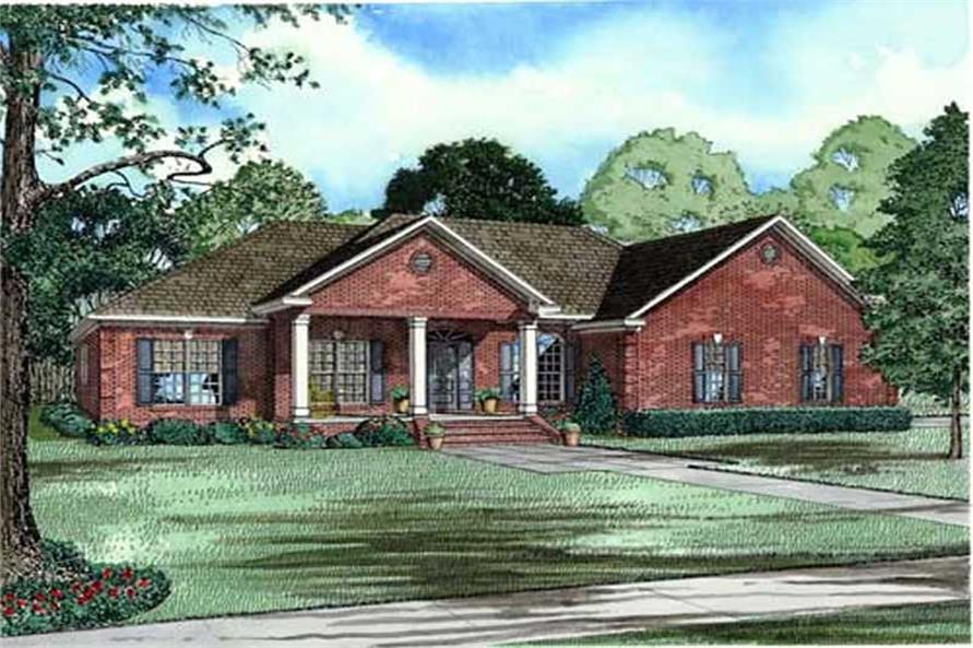 4-Bedroom, 2675 Sq Ft Country House Plan - 153-1880 - Front Exterior