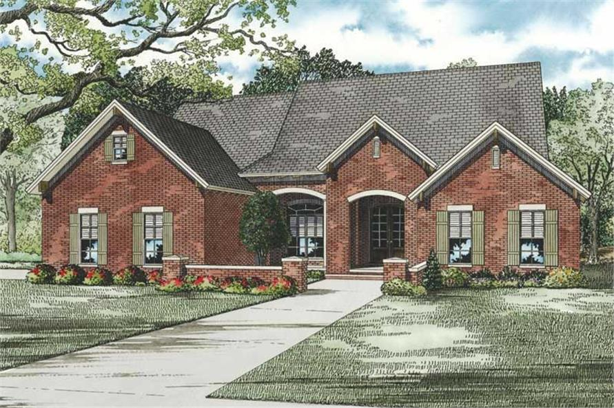 4-Bedroom, 2135 Sq Ft Contemporary Home Plan - 153-1881 - Main Exterior