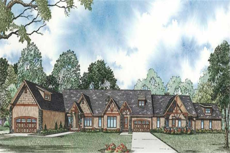 3-Bedroom, 2062 Sq Ft Craftsman House Plan - 153-1882 - Front Exterior