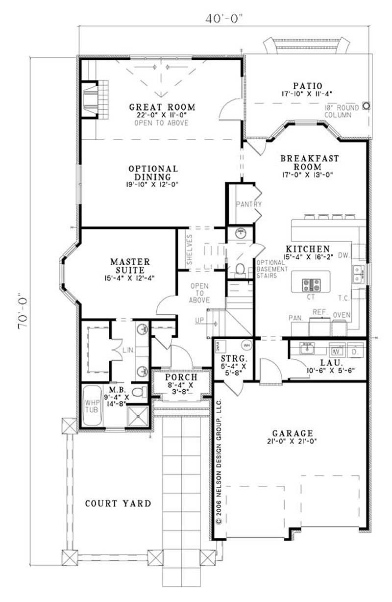 House Plan NDG-1177 Main Floor Plan