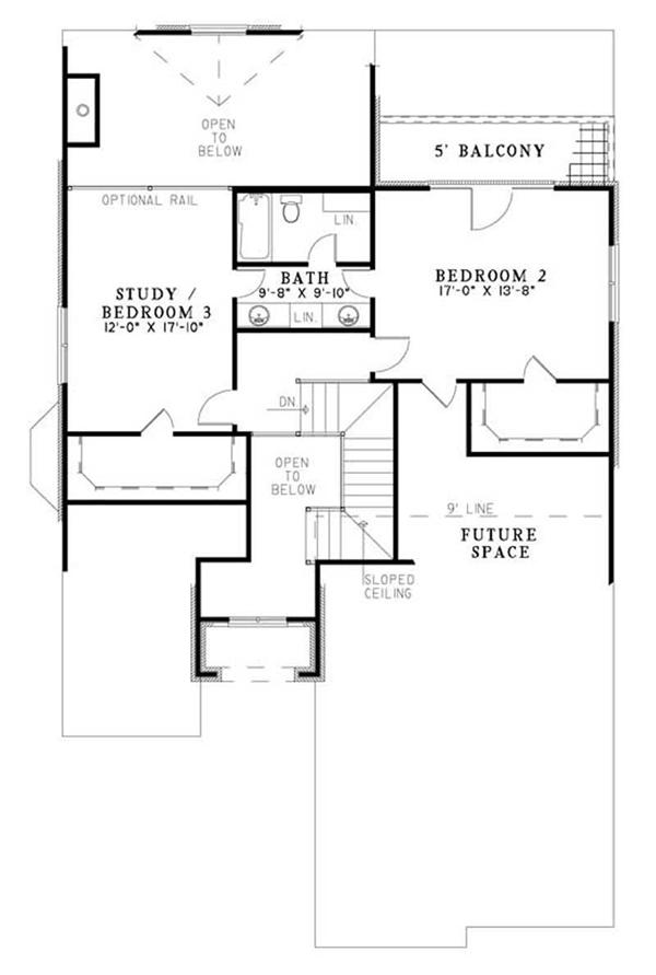 House Plan NDG-1177 Second Floor Plan
