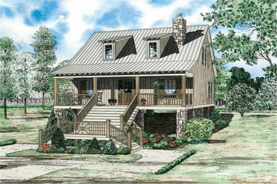 2-Bedroom, 1400 Sq Ft Country Home Plan - 153-1886 - Main Exterior