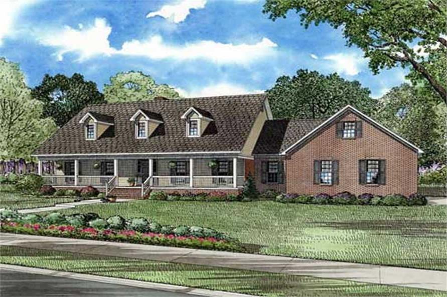 5-Bedroom, 3496 Sq Ft Cape Cod House Plan - 153-1889 - Front Exterior