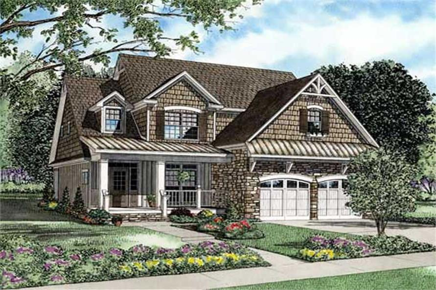 3-Bedroom, 2457 Sq Ft Cape Cod House Plan - 153-1891 - Front Exterior