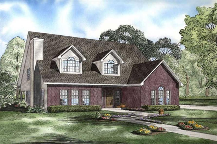 3-Bedroom, 2545 Sq Ft Cape Cod Home Plan - 153-1894 - Main Exterior