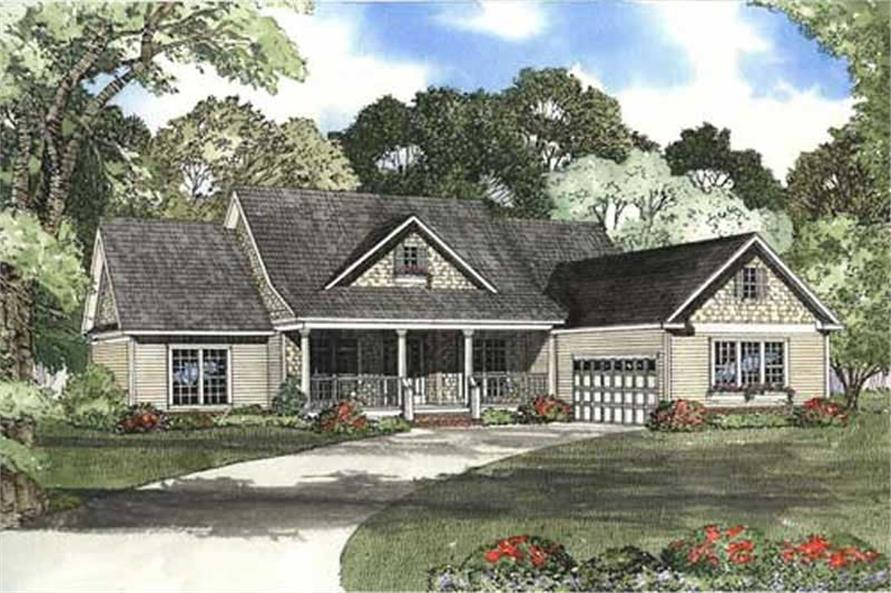 4-Bedroom, 2354 Sq Ft Country House Plan - 153-1896 - Front Exterior