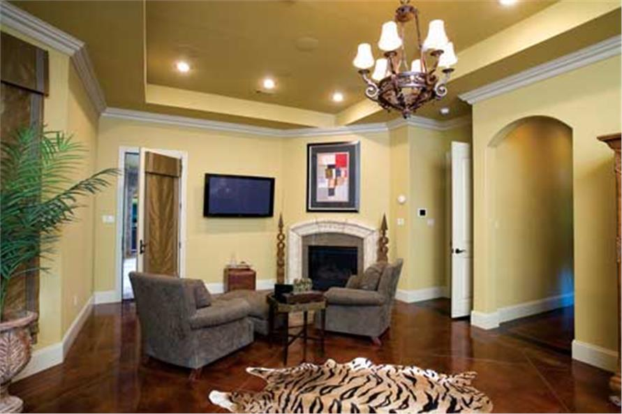 Master Suite Sitting Area of this 3-Bedroom,4121 Sq Ft Plan -153-1897