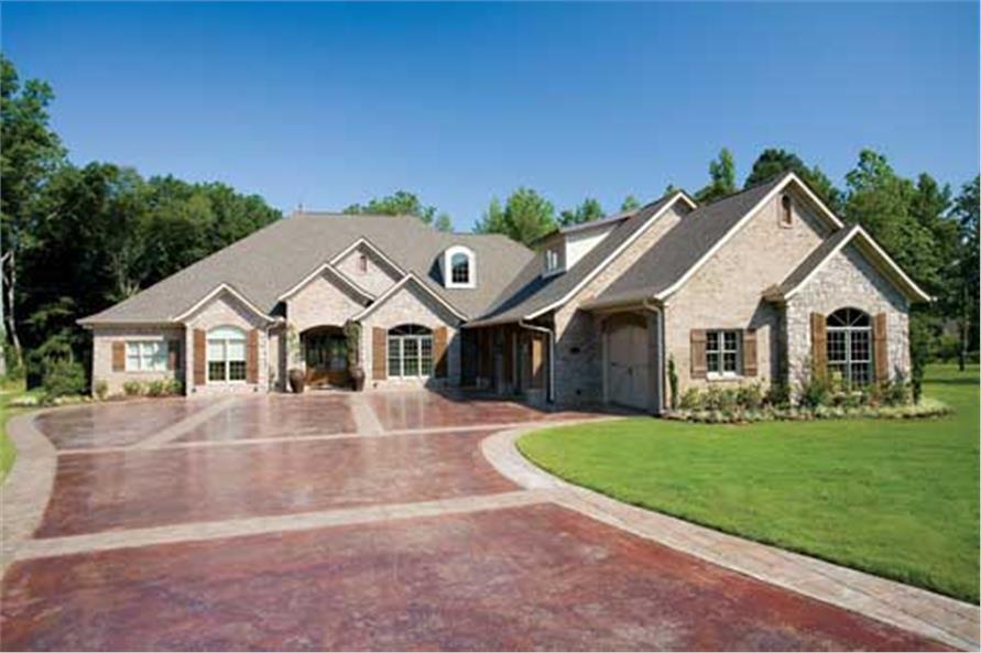 Luxury / European House Plan: 3 bdrm, 4121 sq. ft. Home Plan #153-1897