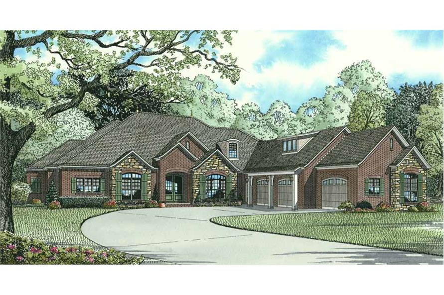 Front View of this 3-Bedroom,4121 Sq Ft Plan -153-1897