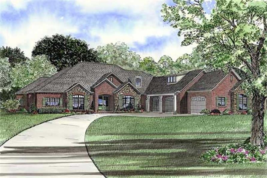 Home Plan Rendering of this 3-Bedroom,4121 Sq Ft Plan -153-1897