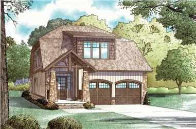 3-Bedroom, 1890 Sq Ft Country Home Plan - 153-1898 - Main Exterior