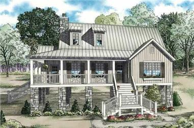 3-Bedroom, 1472 Sq Ft Coastal House Plan - 153-1899 - Front Exterior