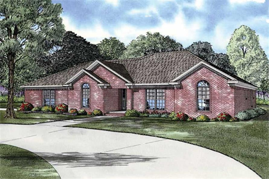 3-Bedroom, 1777 Sq Ft European Home Plan - 153-1901 - Main Exterior