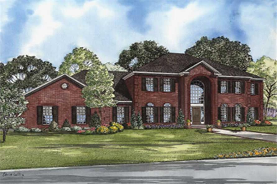 4-Bedroom, 3558 Sq Ft Luxury Home Plan - 153-1903 - Main Exterior