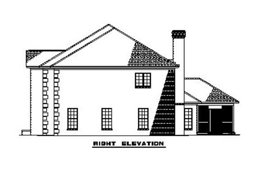 Home Plan Right Elevation of this 4-Bedroom,3558 Sq Ft Plan -153-1903