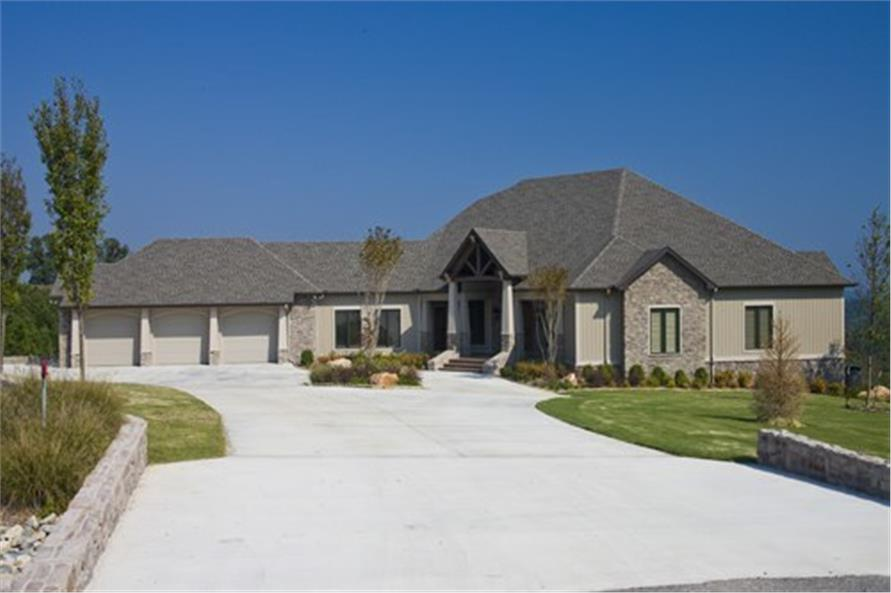 Front View of this 4-Bedroom,5145 Sq Ft Plan -5145