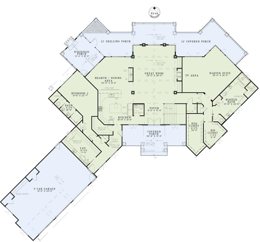 153-1904: Floor Plan Main Level