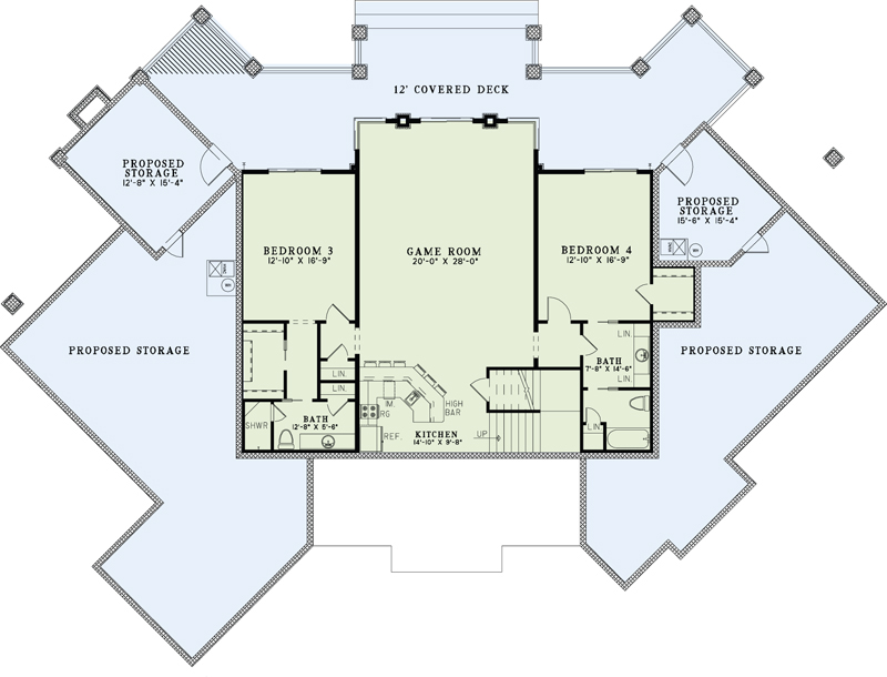 153-1904: Floor Plan Basement-Lower Level