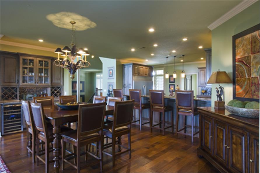 Kitchen: Breakfast Nook of this 4-Bedroom,5145 Sq Ft Plan -5145