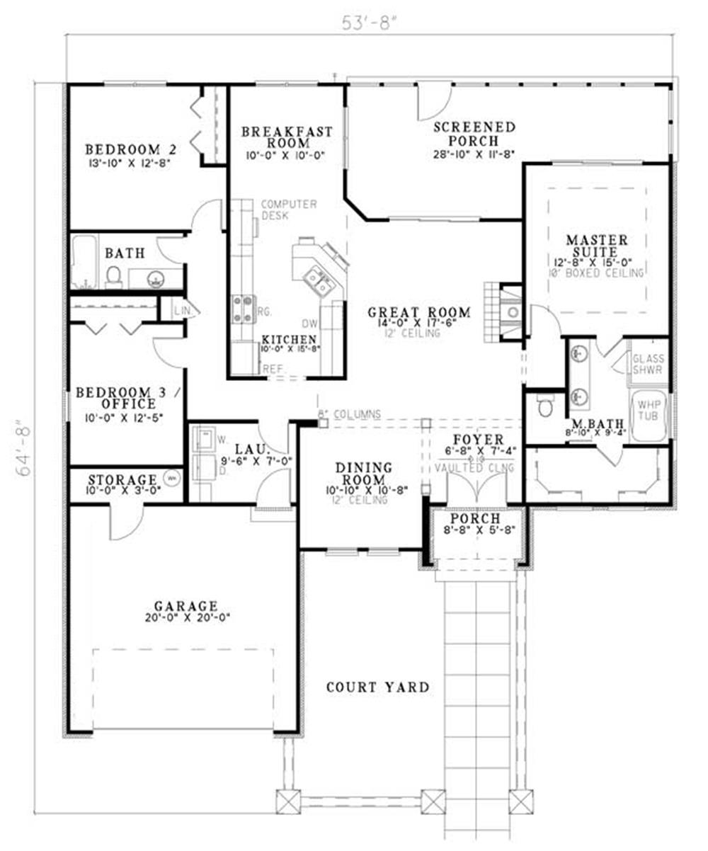 153-1906: Floor Plan Main Level