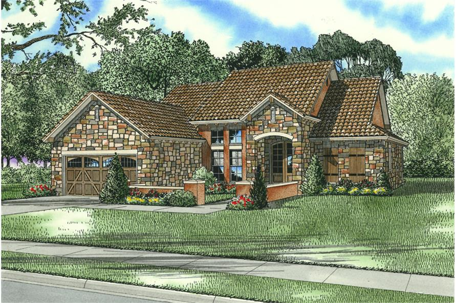Front View of this 3-Bedroom,1747 Sq Ft Plan -1747