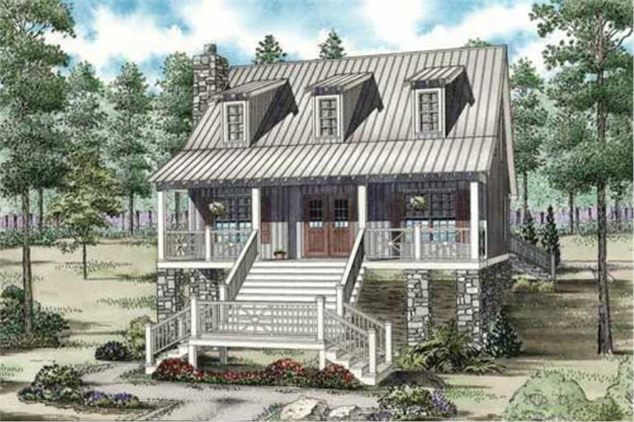 3-Bedroom, 1544 Sq Ft Coastal House Plan - 153-1908 - Front Exterior
