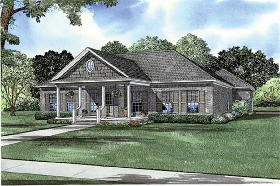 3-Bedroom, 1689 Sq Ft Farmhouse House Plan - 153-1909 - Front Exterior